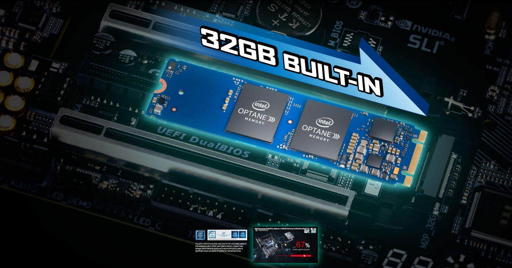 Gigabyte Z370-HD3 OP Motherboard come with 32GB Intel Optane Memory