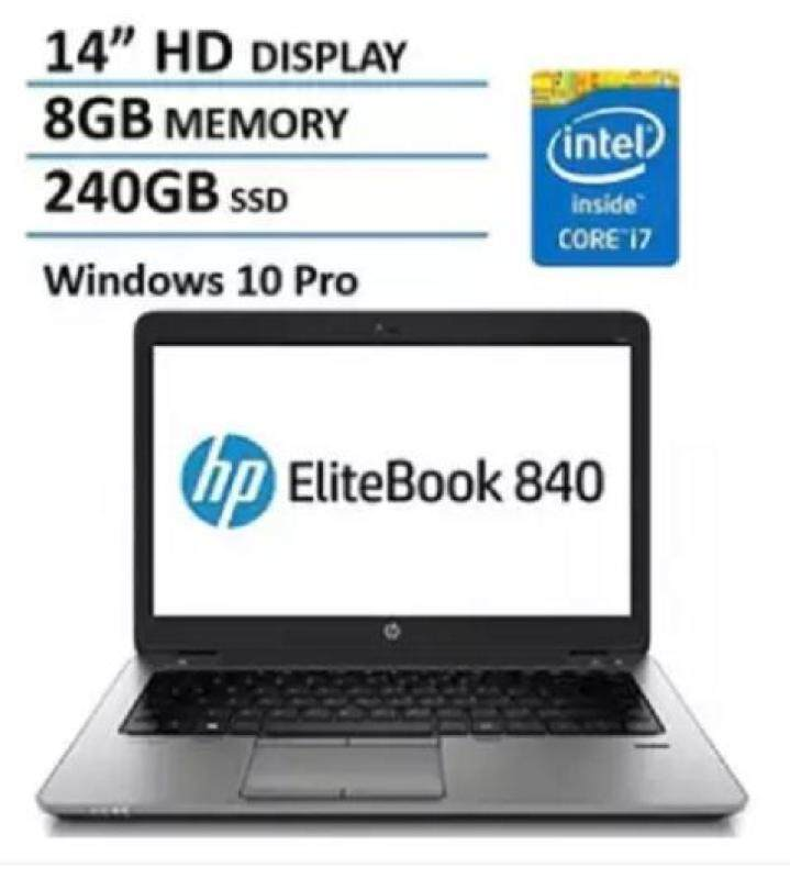 HP EliteBook 840 G1 (1.55kg, i7-4600U, 8GB, 240GB SSD, vPro,) 14 Business Notebook [Refurbished] Malaysia