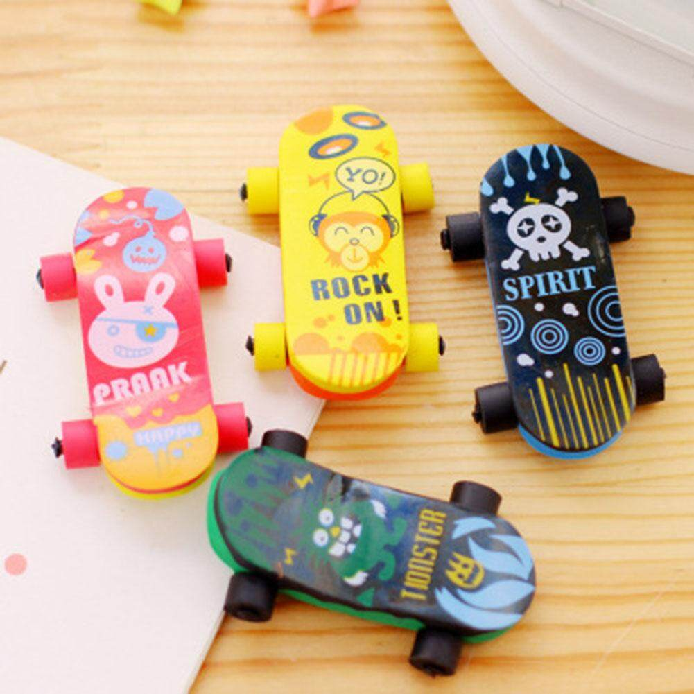 Kawaii School Eraser Kawaii Skateboard Pencil Erasers For Kids Rubber Cartoon Sliding Plate Student Supplies(color Rom) By Darahry.
