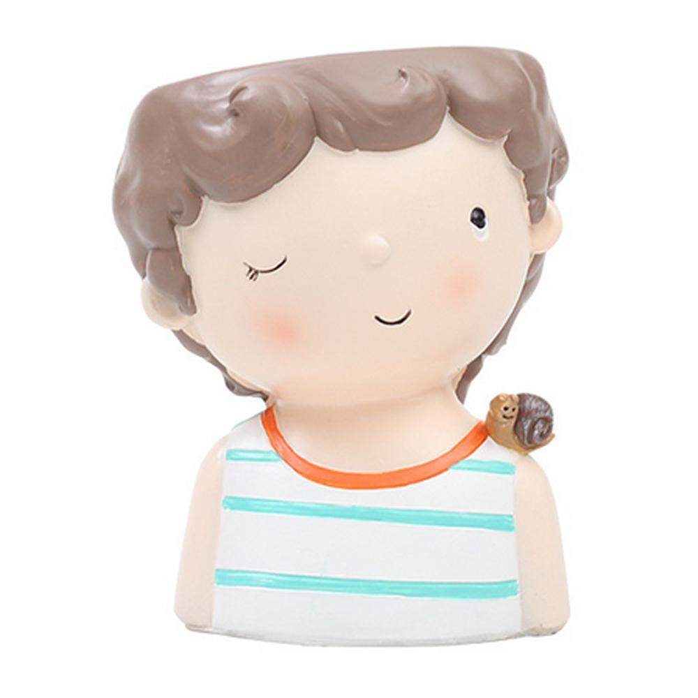 Vankel Pot Bunga, LETV LG Karakter Lucu Indoor Kerajinan Dalam Ruangan Pot Ornamen (Banyak Warna, Gaya Multi)