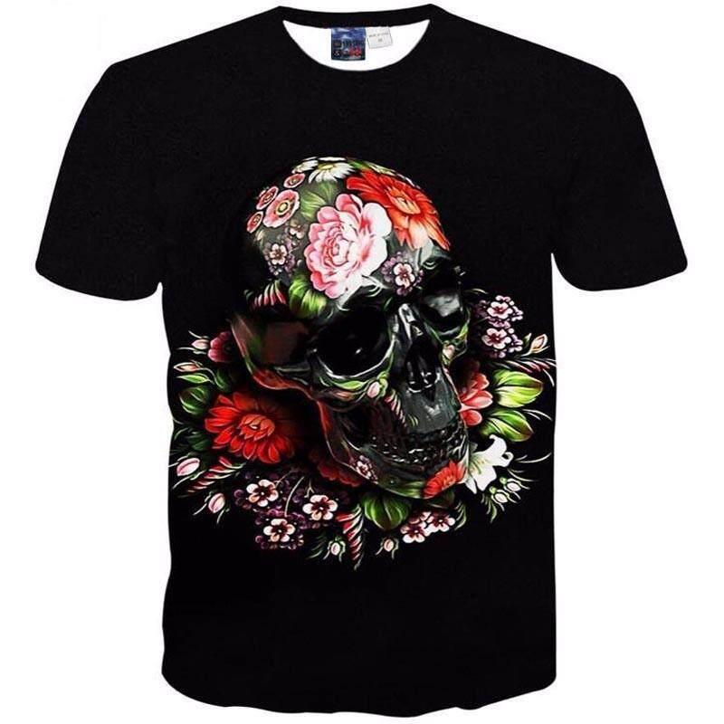 Jumeast Mode Terkini Pria/Wanita Kaos Bermerk 3d Cetak Lengan Pendek Tengkorak T Shirt untuk Pria Tops Tees Pakaian Kasual-Intl