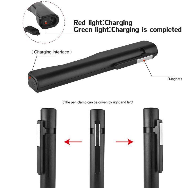 Bảng giá LED COB Inspection Lamp Work Light Flexible USB Rechargeable Dry Battery - intl