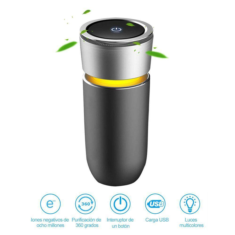 niceEshop Car Ozone Ionic Air Purifier Air Cleaner Remove Smoke Odor Bacteria Mini Ozone Purifier Function with Car Phone Charger