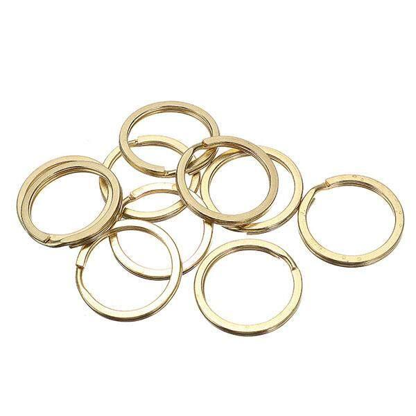 Hình ảnh 10Pcs green brass key ring copper button key ring handmade leather goods DIY - intl