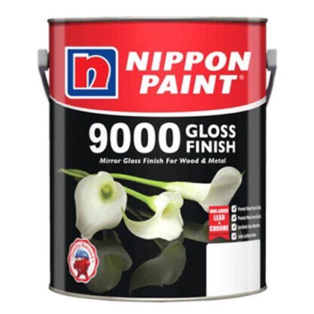 NIPPON PAINT 9000 GLOSS FINISH FOR WOOD & METAL - 1LIT