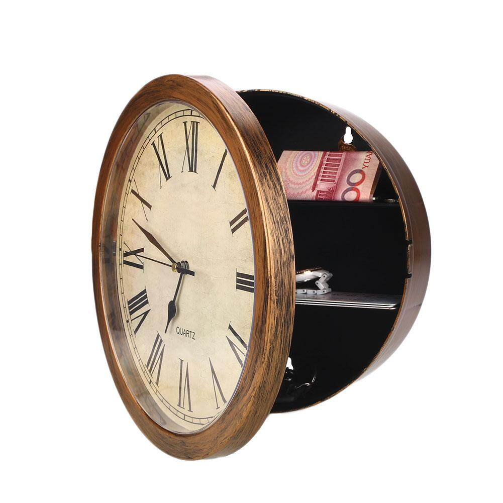 Secret Hidden Wall Clock Home Security Valuables Cash Jewellery Gold Safe Box