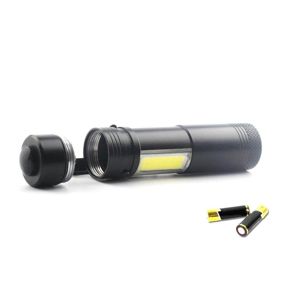 Hình ảnh ELEC Portable 4 Modes COB XPE LED Flashlight Zoom Clip Ultra Bright Pocket Torch
