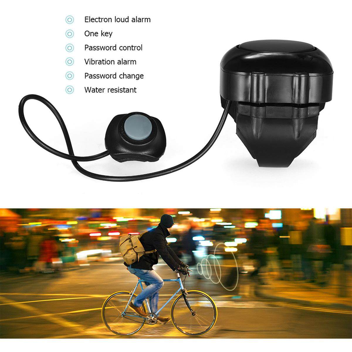 Sunding Cycling Bike Alert Bells Ring Loud, 3 Sound Electric Horn - Black