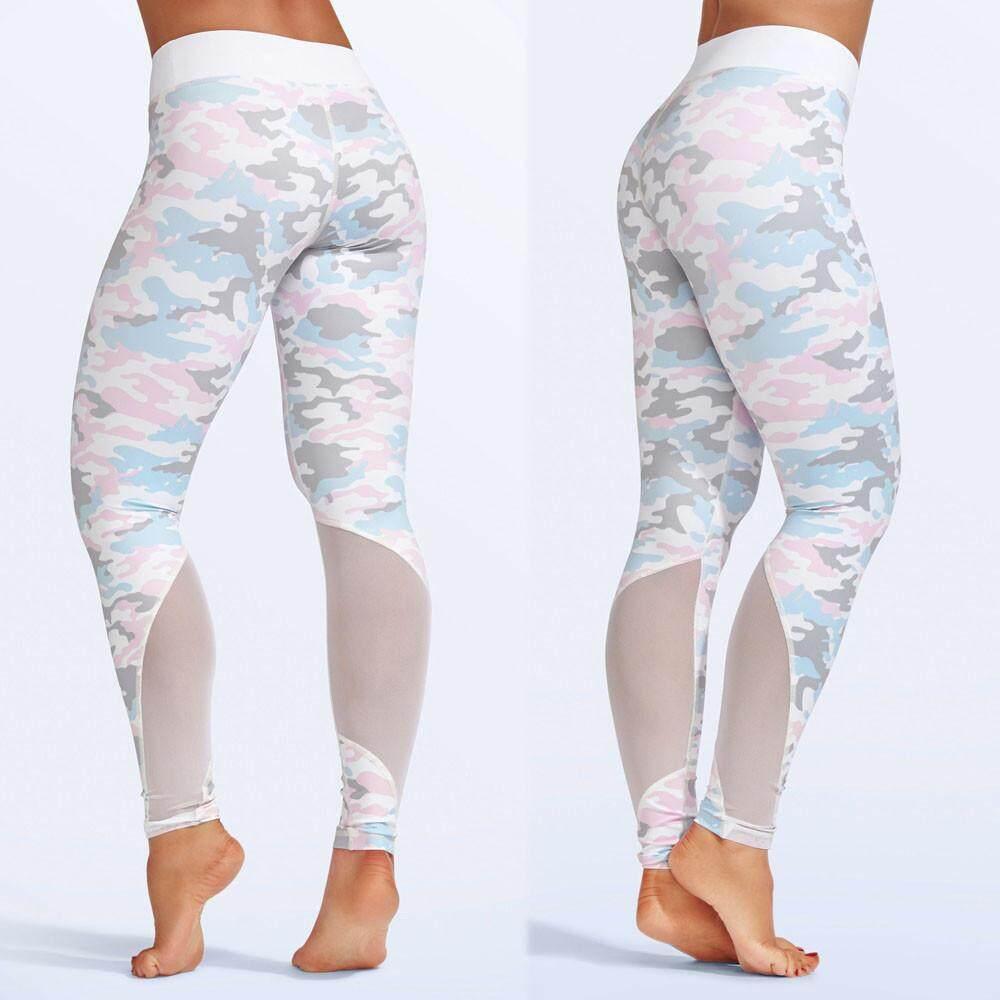 2018 Tren Modis Wanita Pinggang Tinggi Olahraga Gym Yoga Celana Legging Kebugaran Lari Celana Celana Atletis