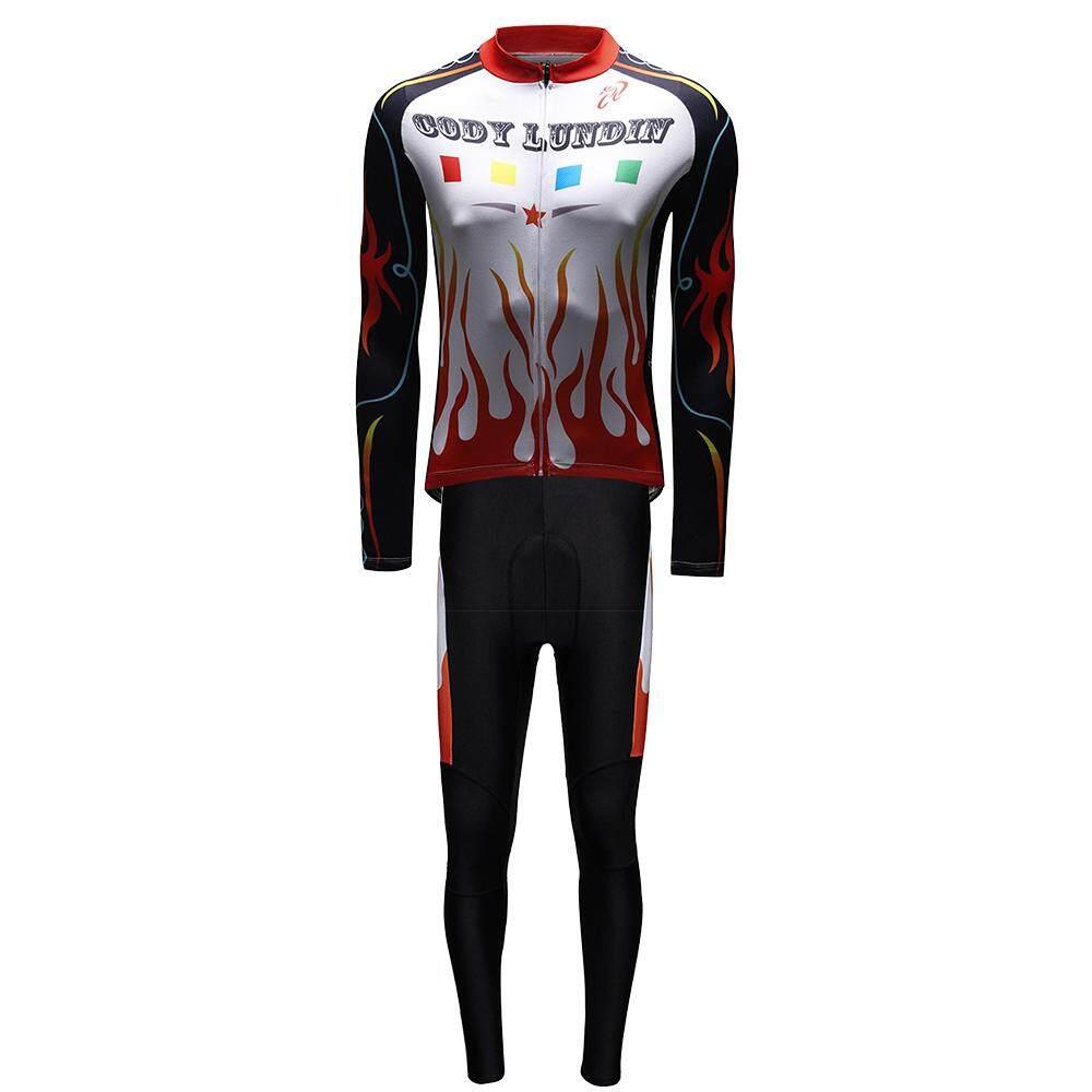 Lengan Panjang Sepeda Pakaian Gaya dengan Celana Pria Set Pakaian Bersepeda Pakaian Breathable Anti Sinar UV