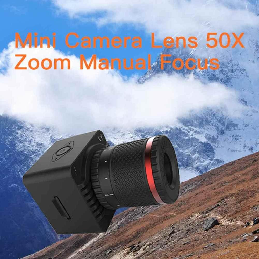 Poya 50X Universal Optical Zoom Kamera Ponsel Teleskop Bermata Satu Lensa + Tripod