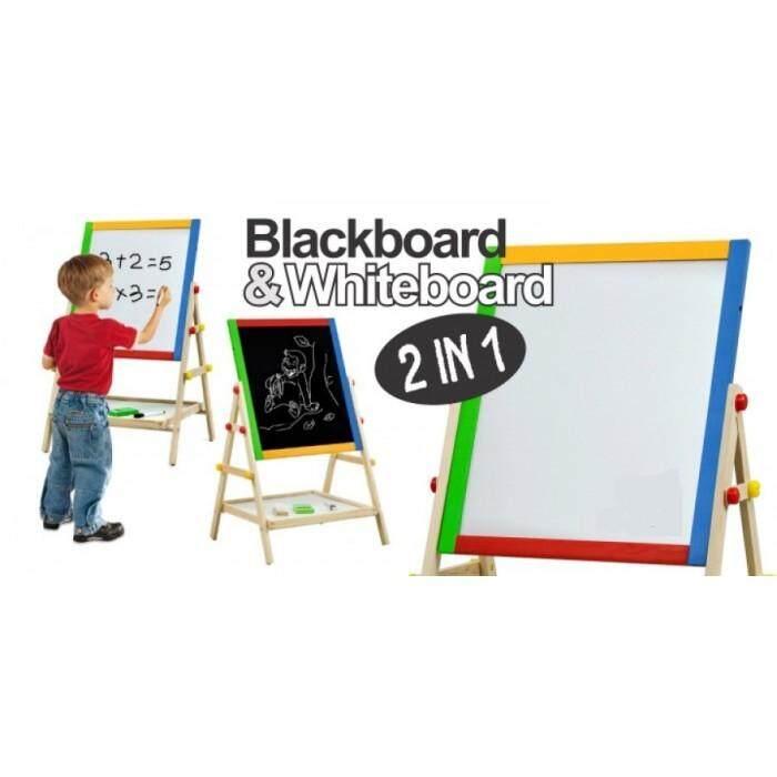 Standing 2in1 Wooden Blackboard/ Whiteboard