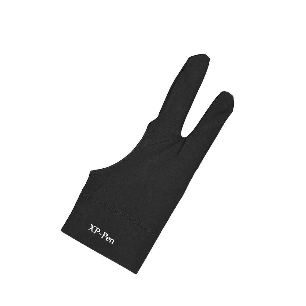 XP-PEN Artist Tablet Drawing Glove Anti-fouling Black Two-Finger Suitable for Right & Left Hand for Graphics Drawing Tablets - intl