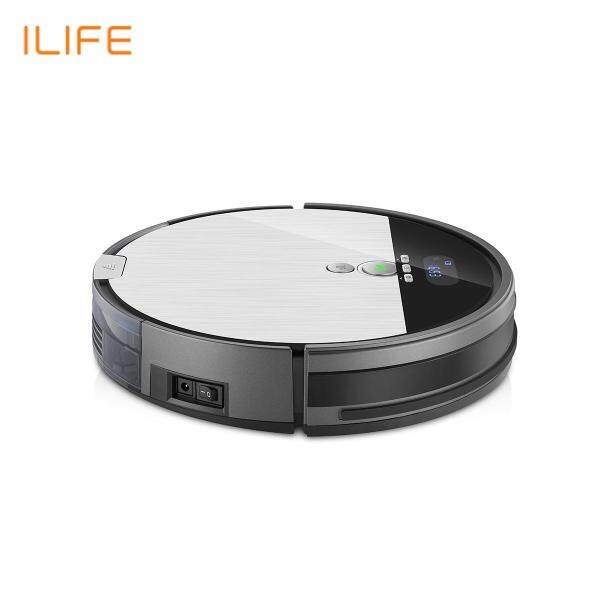 ILIFE V8S Vacuuming Mopping Robotic Vacuum Cleaner with LCD Display Automatic Charging Anti-Collision Fall Prevention Intelligent Robotic Vacuum Cleaner Singapore