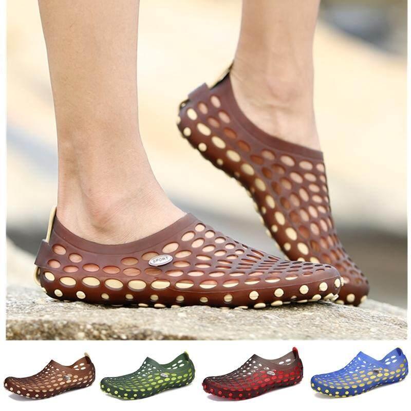 Kailijie Pria Sandal Terompah Sandal Musim Panas Sepatu Pantai Z03 (Hitam)-Intl