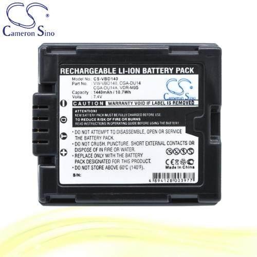 CameronSino Battery for Panasonic VDR-D250 / VDR-D258GK / VDR-D300 Battery 1440mah CA-VBD140