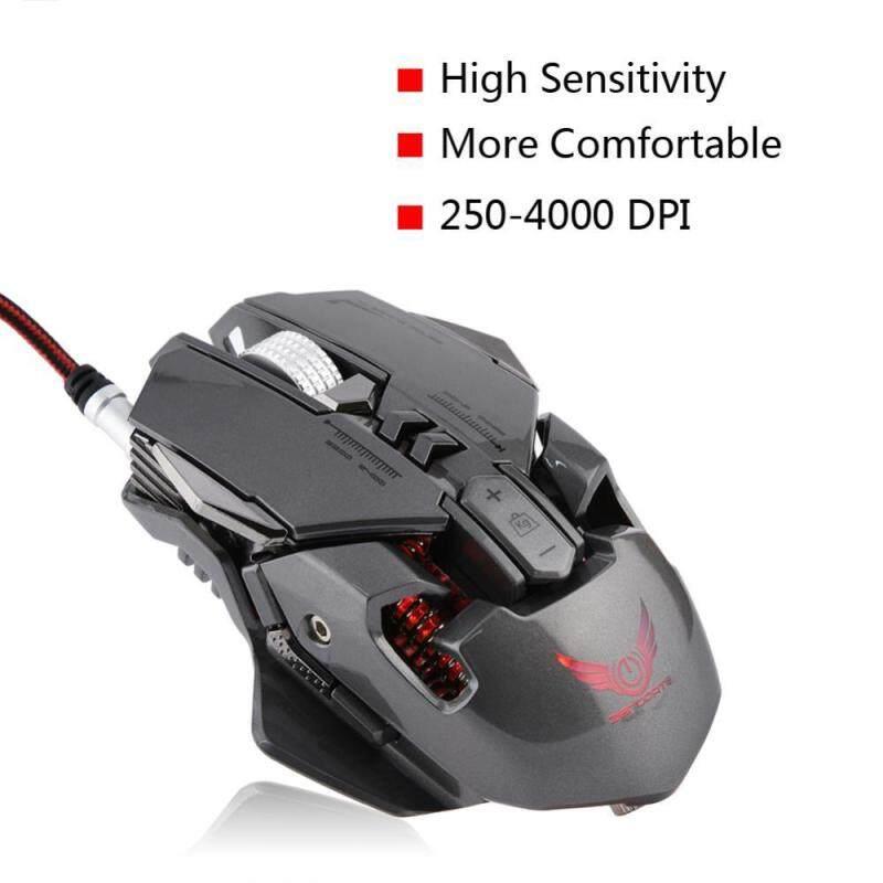 Justgogo ZERODATE X300GY Mechanical Gaming Mouse 250-4000 DPI Adjust Gamer Mice for PC