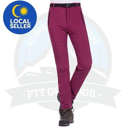 [ LOCAL DELIVERY ] McGos Women Hiking Pants Women Summer Trousers Mountaineer Hiking Pants Outdoor Anti-UV Breathable Sports Quick-Drying Camping Pants - Purple
