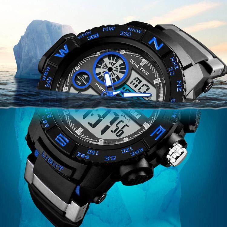 Mens Watches SKMEI Brand New S Shock Sport Watches Big Dial LED Digital Quartz Wristwatches 50M Waterproof Clock Malaysia