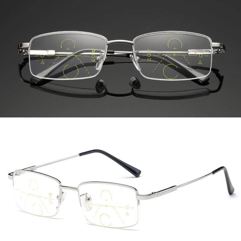 YBC Presbiopia Kacamata Baca Progresif Multifokal Lensa Anti Kelelahan Kacamata (100 °)-Internasional