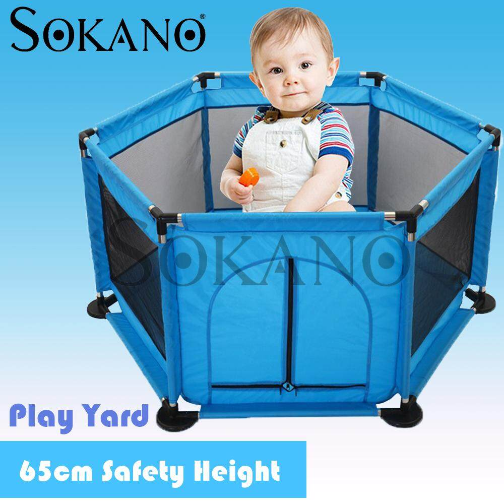 SOKANO Hexagon Baby Kid Play Pen Play Yard Guard Rail