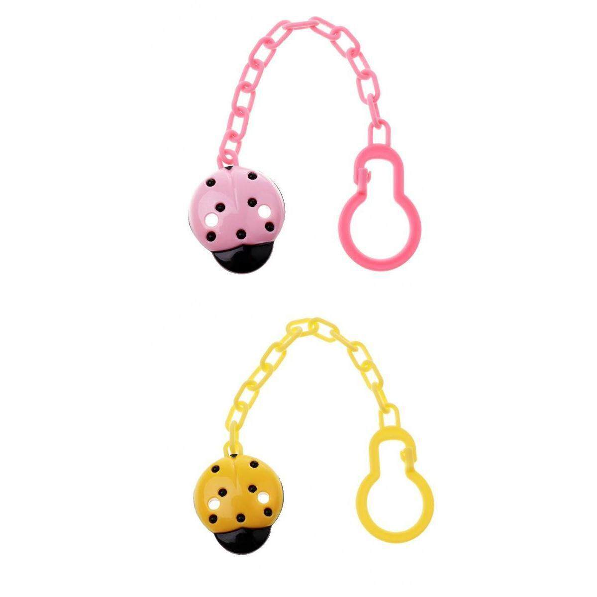 Magideal Baby Pacifier Holder Clips Chain Infant Dummy Teether Straps 2pcs By Magideal.