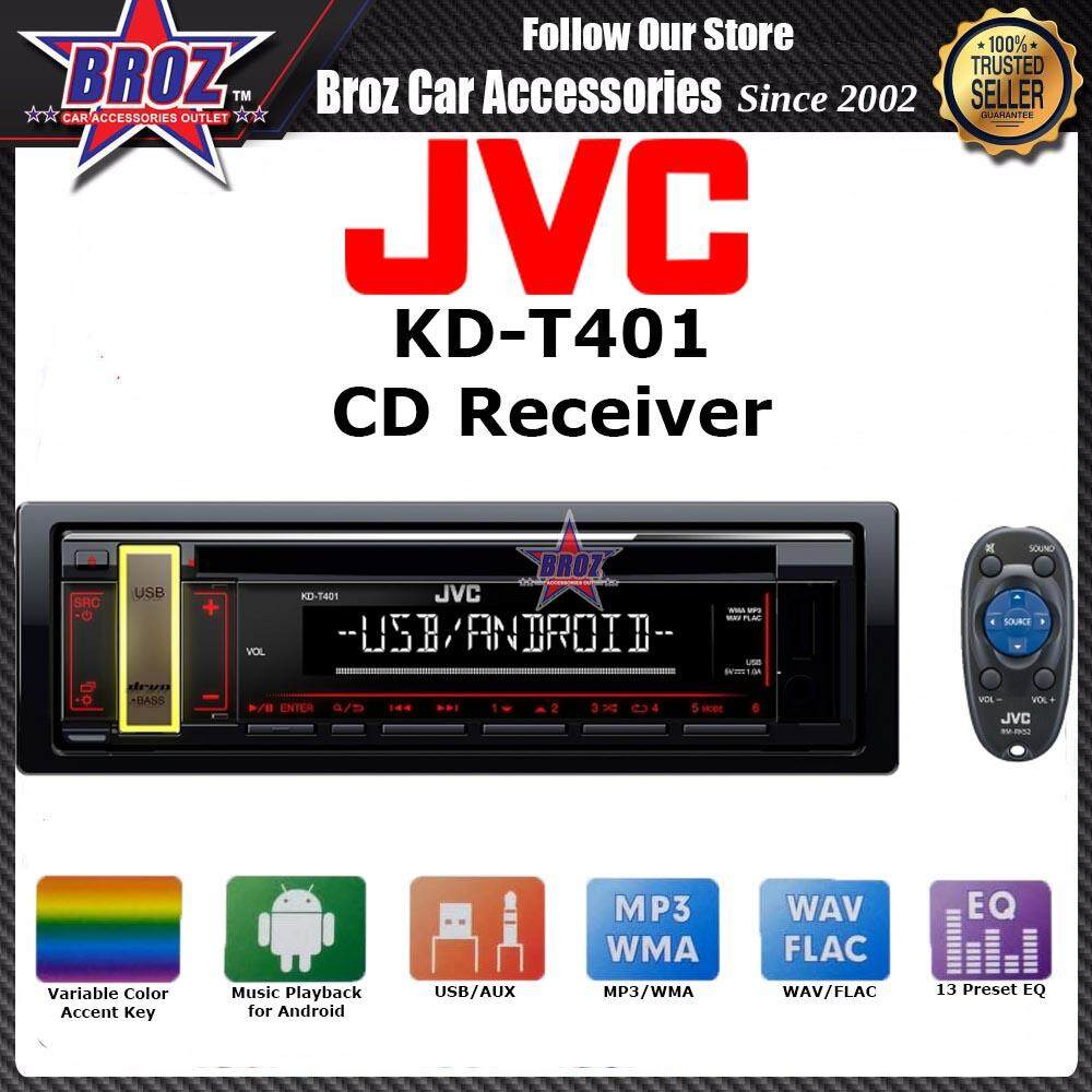 Original JVC KD-T401 CD Receiver with Front USB and AUX Input