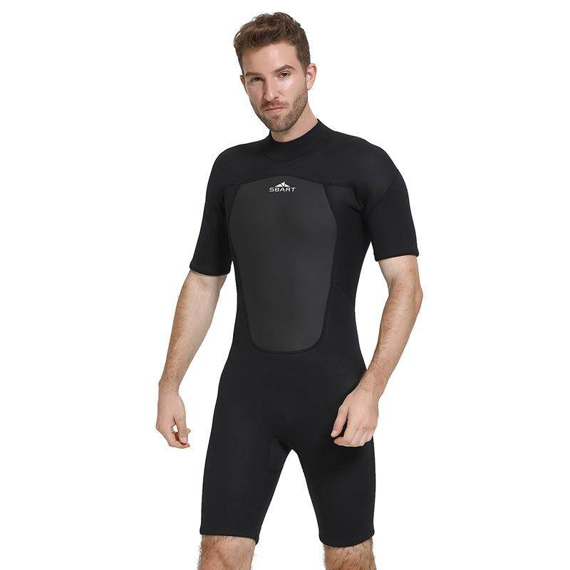 dde9dcefd5 SBART Newest Men 2mm One-piece Neoprene Wetsuit Short Sleeve Diving Suit  for Diving,