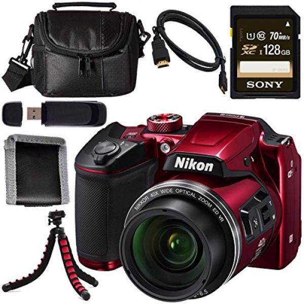 Nikon COOLPIX B500 Digital Camera 26508 + Sony 128GB SDXC Card + Flexible Tripod + Case + Card Reader + Memory Card Wallet + Micro HDMI Cable Bundle
