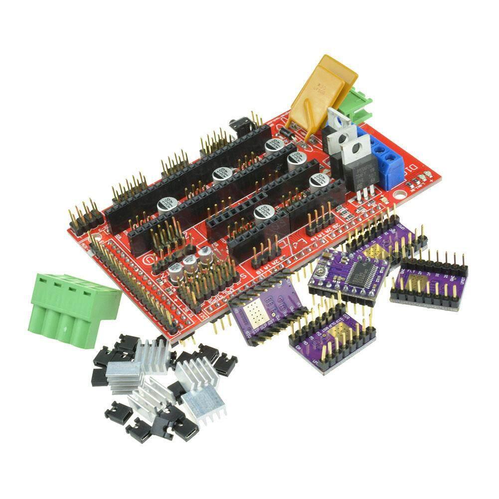 Dlong Landai 1.4 Papan Pengontrol + 5 Pcs DRV8825 Stepstick Modul Driver untuk 3D Printer