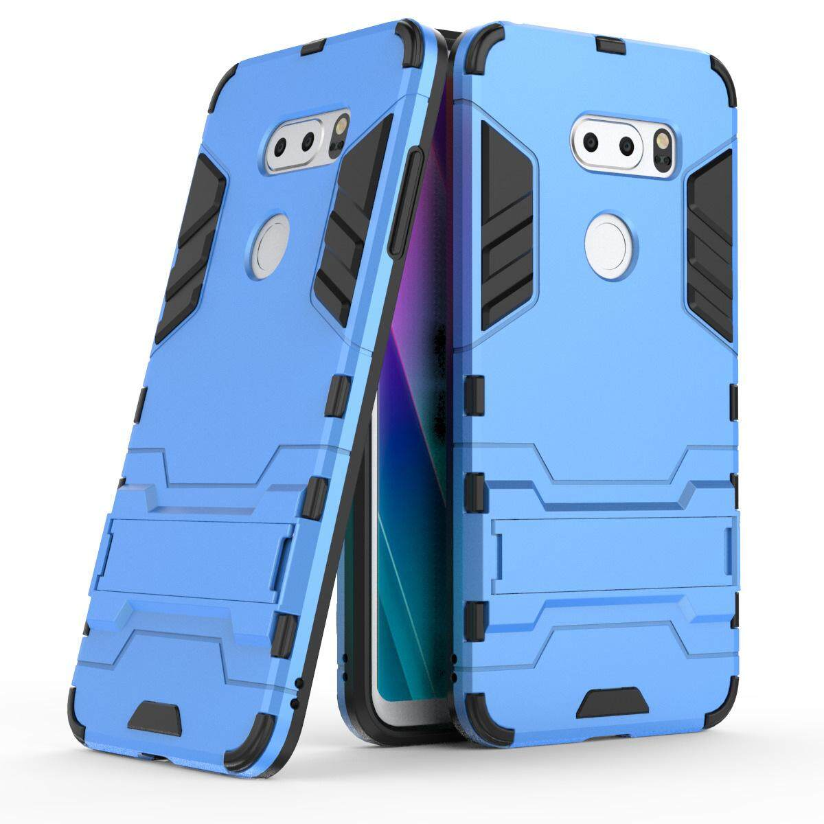 Hình ảnh for LG V30S Case 2in1 PC+TPU Hybrid Slim Back Case Ultra Thin Armor Cover, with Kickstand Holder, Glossy, Minimalist, Casual