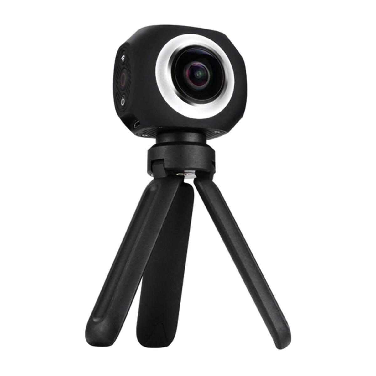Amkov Dual Lensa 360 Panorama Olahraga Aksi Kamera Video VR Wifi 220 ° Fish-Eye Mengemudi-Intl