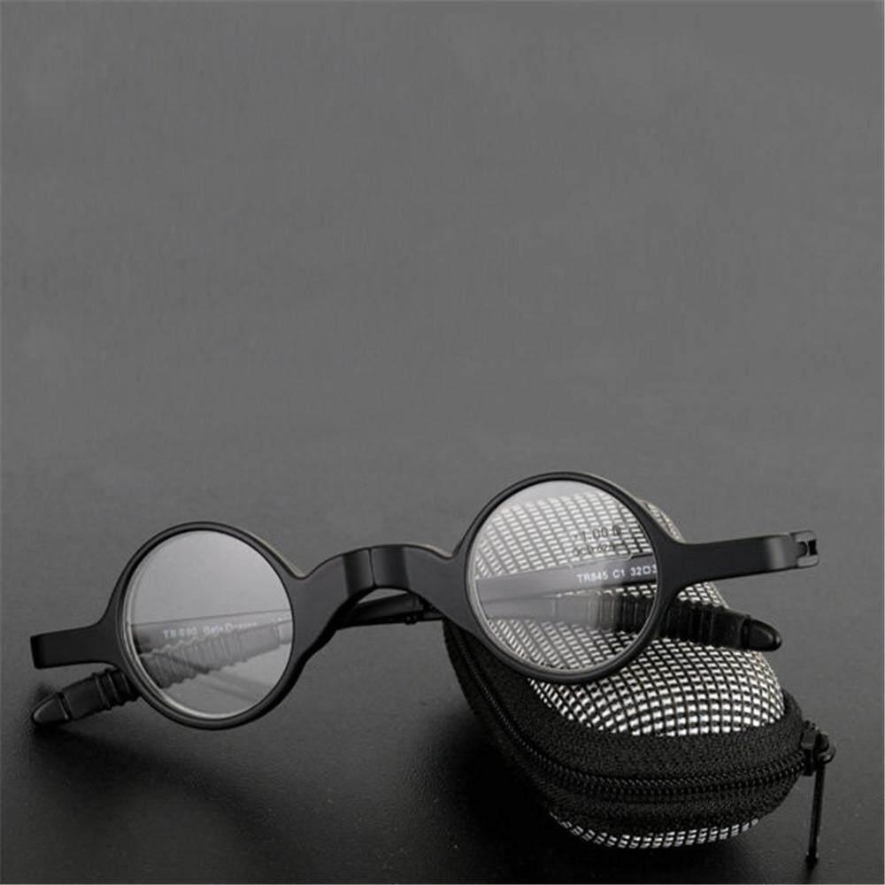 300 Degree Women Men Folding Presbyopic Glasses Black Metal Frame Sunglasses Reading Glasses With Glasses Case By Moonbeam.