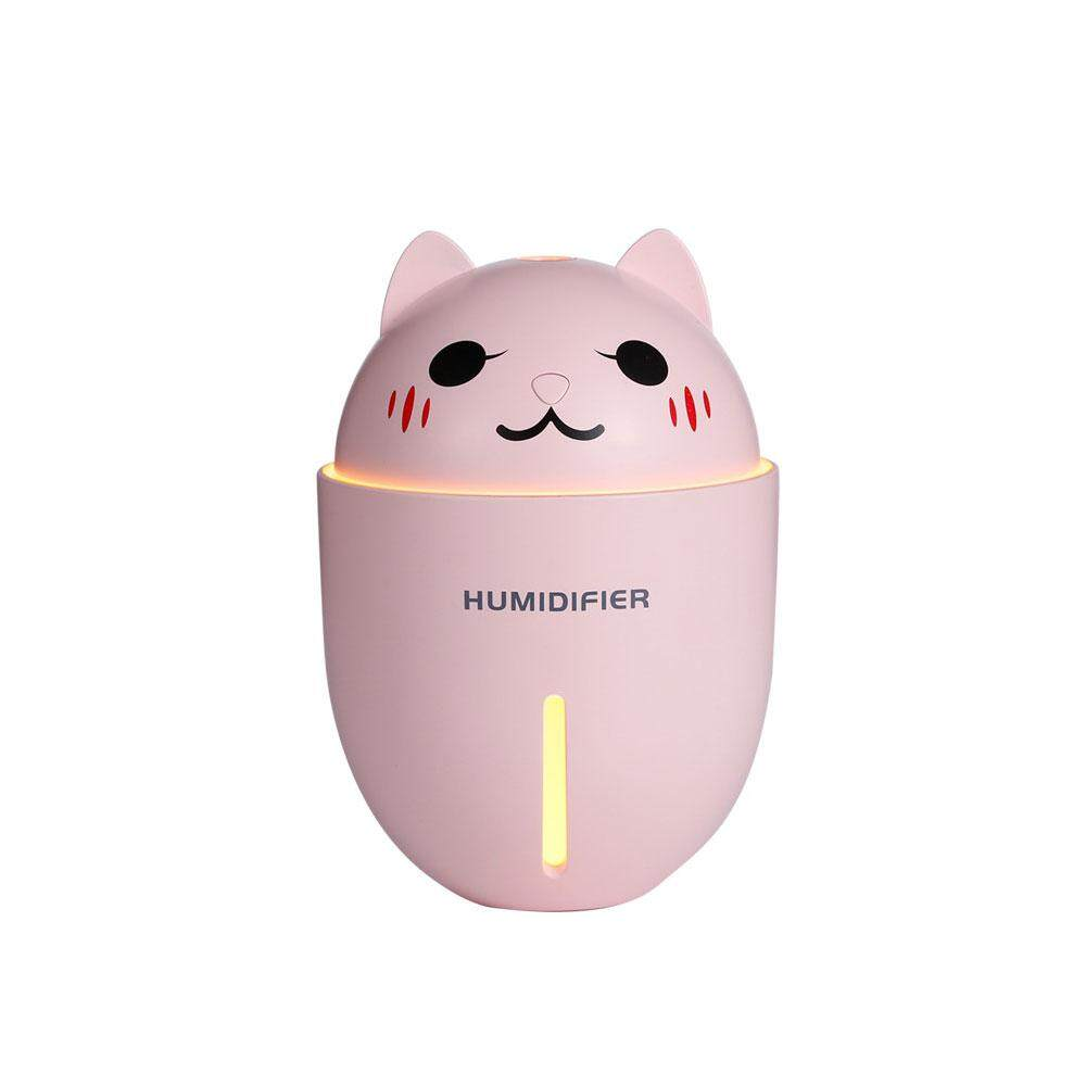 Auoker Portable Cute Pet Humidifier Multifunction 3in1 Humidifier Night Light Fan Mini USB Humidifier,13.5*9.3*9.3cm - intl
