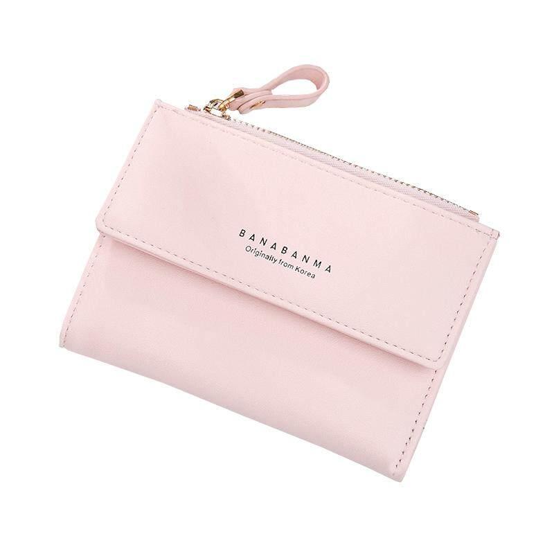 Amart Fashion Women Wallets Purse Bag PU Buckle Durable Multifunctional Coin Money Cards Holder - intl