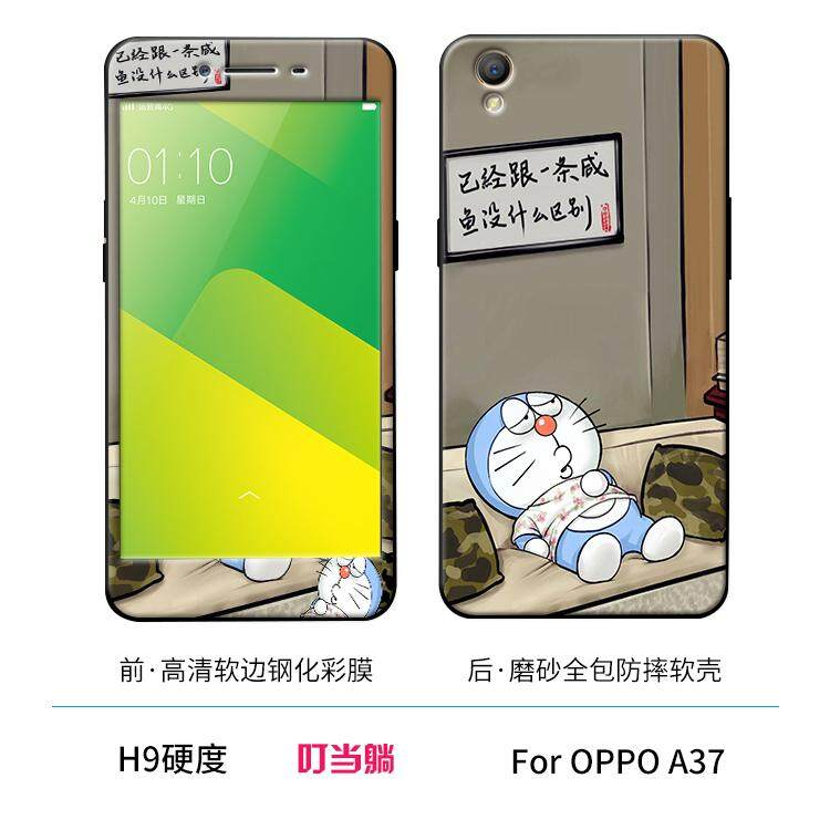 For Oppo Neo9/Oppo A37 Lovely 3D Painting Front Full Cover Color Tempered Glass Screen