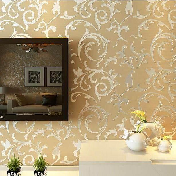 10*0.53 M DIY Non-woven Kertas Dinding HD Kertas Dinding Bunga Mural-Intl