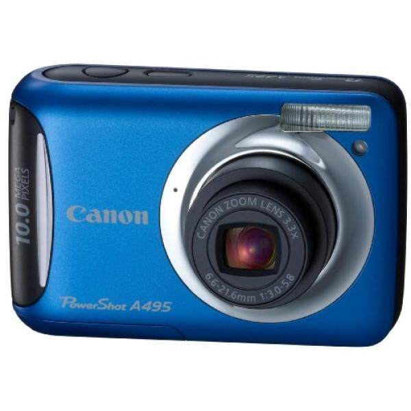 Canon PowerShot A495 10.0 Kamera Digital MP dengan 3.3x Optical Zoom dan 2.5-Inch LCD (Biru)