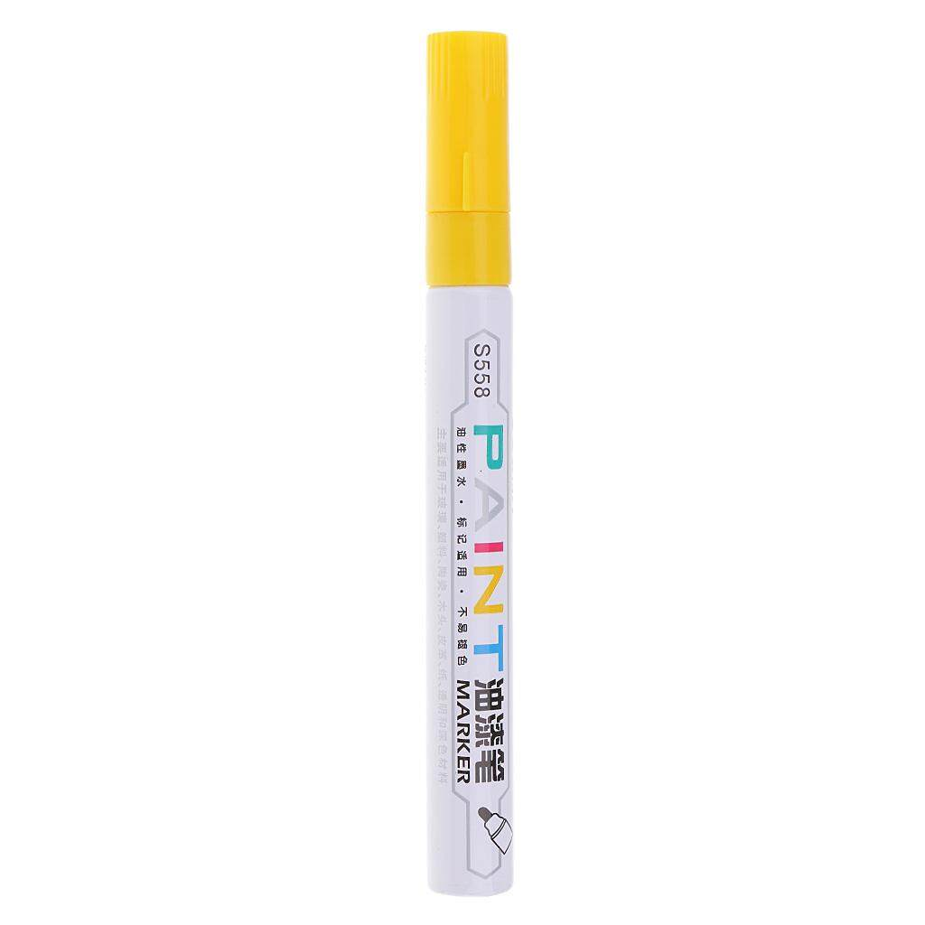 Mua BolehDeals Waterproof Permanent Paint Marker Pen Tire Metal Marking Acrylic Pens yellow
