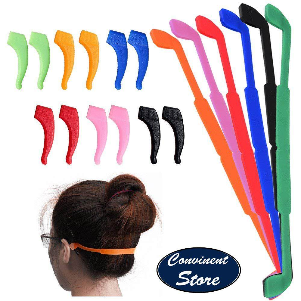 eadb69ca5c0 ✅ 6Pack Anti-slip Silicone Glasses Straps with 6 Pairs Ear Grip Hooks