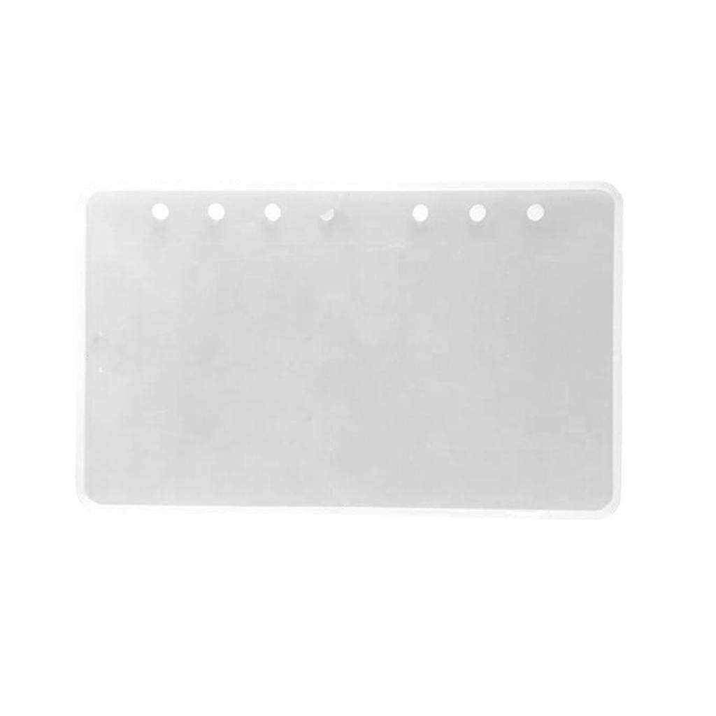 Hình ảnh BolehDeals DIY Notebook Cover Silicone Mold DIY Epoxy Resin Casting Craft Jewelry Making Mould A7 A6 A5 Size