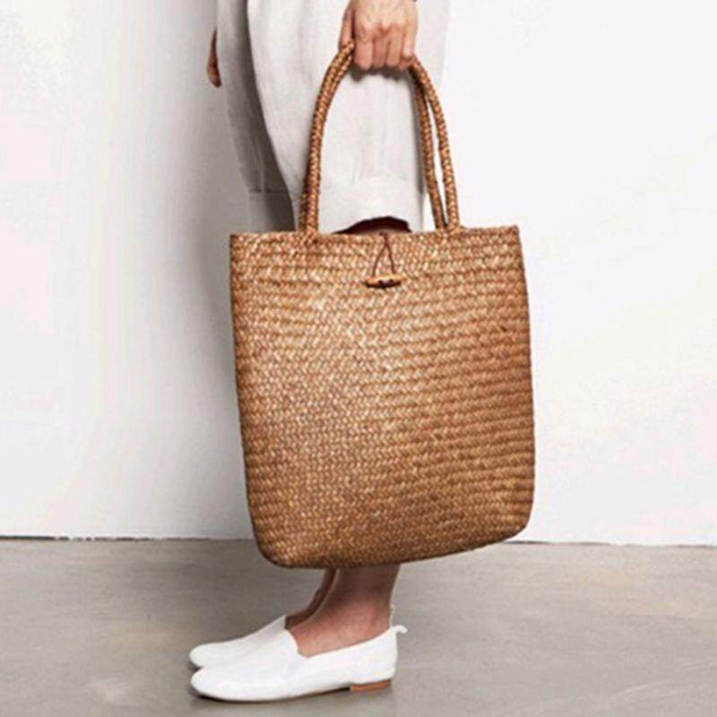 28d6d3ab9a Women Fashion Designer Lace Handbags Tote Bags Handbag Wicker Rattan Bag  Shoulder Bag Shopping Straw Bag
