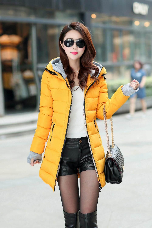 Wanita Musim Dingin Mantel Hangat Bertudung 2018 Slim Ukuran Plus Katun  Warna Permen Empuk Jaket Biasa e148017570