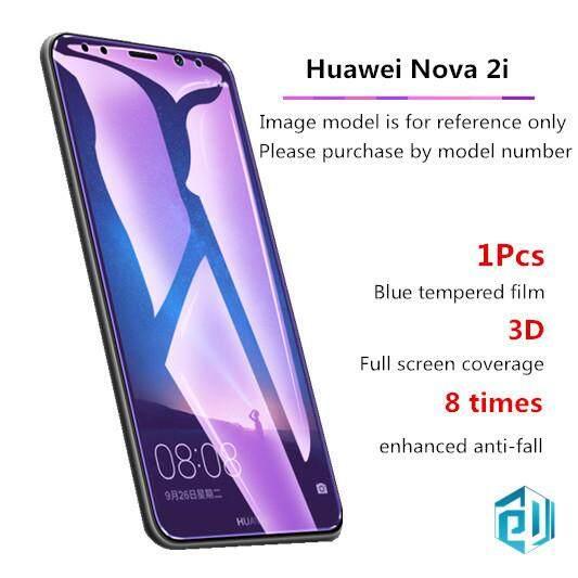 1 Pcs Blu-ray Kaca Antigores Tahan Guncangan Tahan Sidik Jari Pelindung Layar untuk Huawei Nova 2i