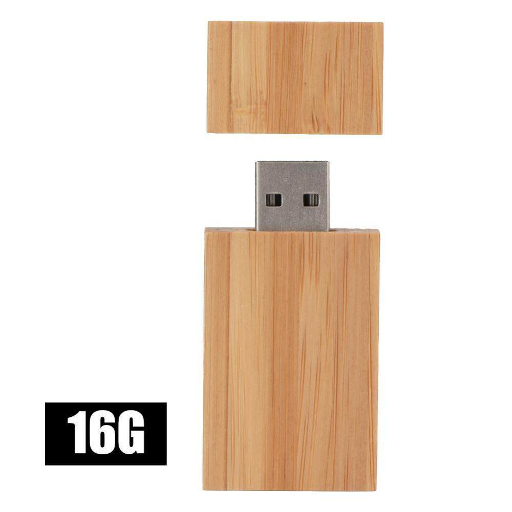 Hình ảnh Justgogo Creative Wooden Block USB 2.0 U Disk USB Flash Drive 16GB - intl