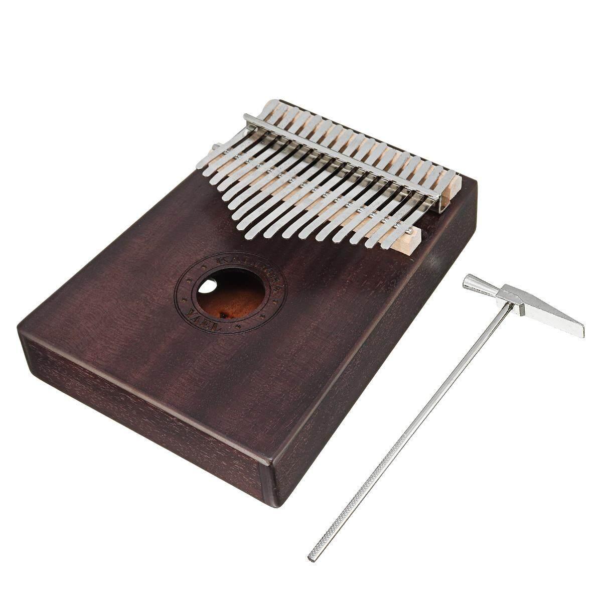 17 Phím Gỗ Kalimba Châu Phi Gỗ Gụ Ngón Tay Cái Đàn Piano Ngón Tay Bộ Gõ Nhạc Quà Tặng