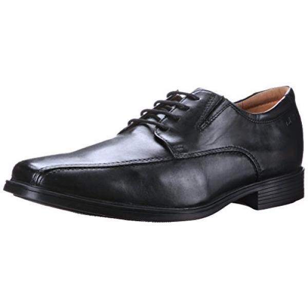 CLARKS Mens Tilden Walk Oxford, Black Leather, 10 M US - intl