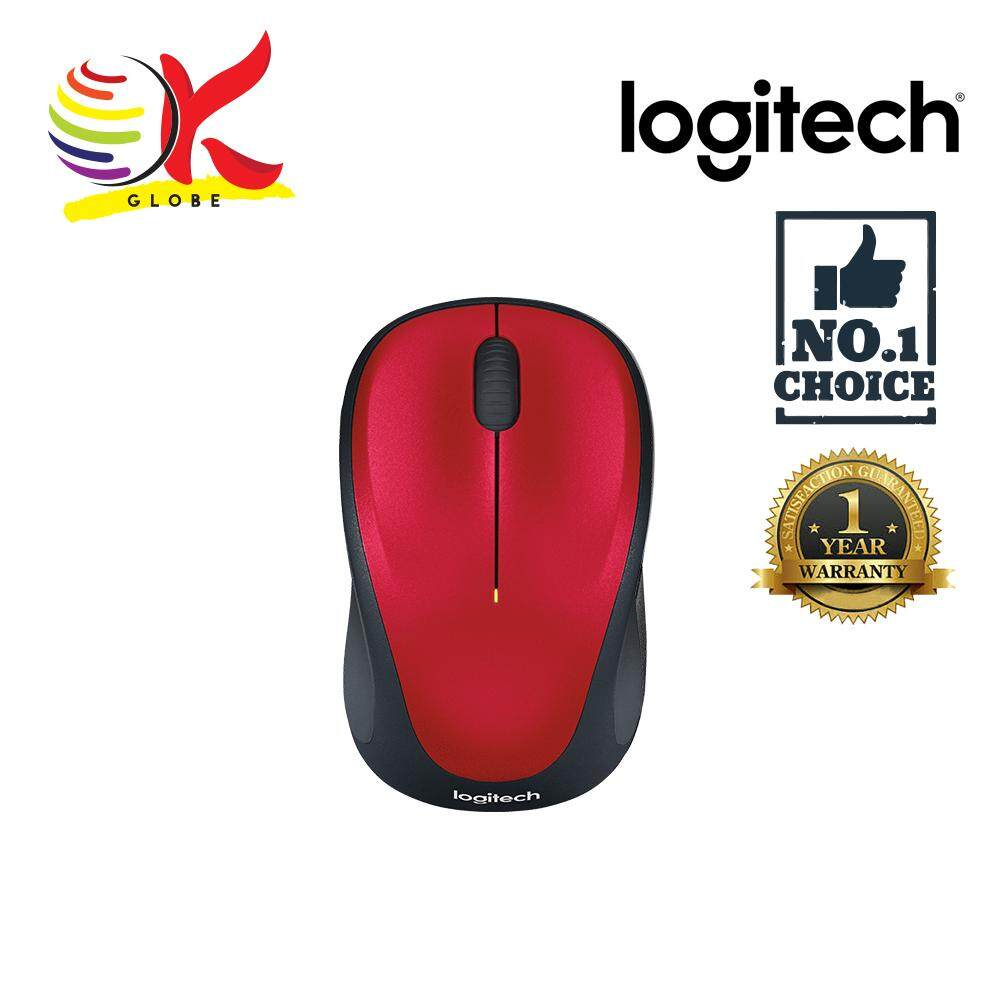 Features Mouse Logitech Wireless Optical M235 Unifying Red 910 M105 003412