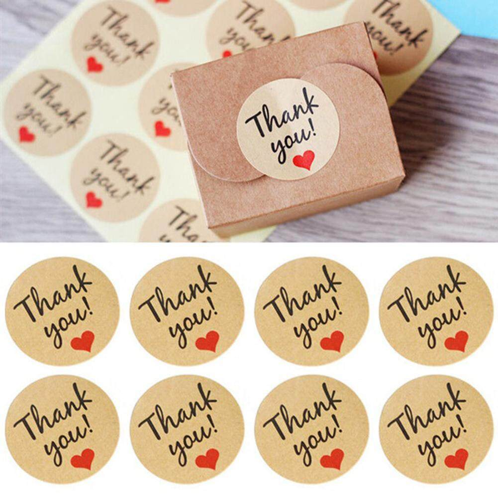Mua Phoenix B2C 120x Thank You Craft Paper Sealing Stickers Wedding Favours Letter Gift Labels