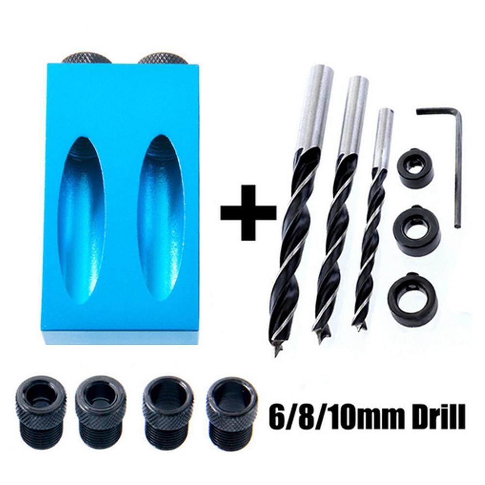 14 Buah Dengan Dowel Pockethole Alat Joget Cenderung Lubang Bor Sedikit Sekrup 15 ° Sudut By Wanmin56.